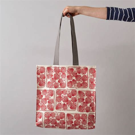 strawberry tote bag by thornback peel