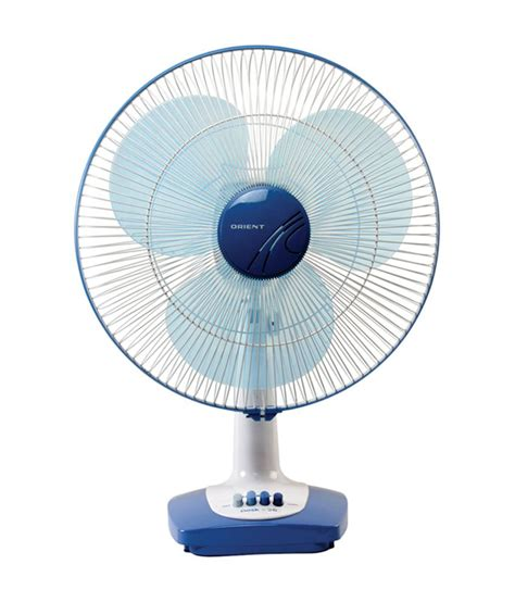 orient 400 mm desk 26 table fan white navy blue price in