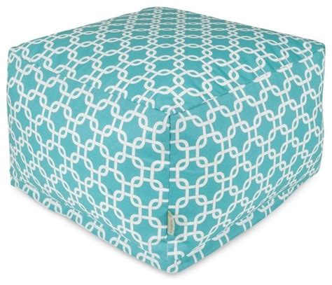 teal leather ottoman teal links large ottoman midcentury outdoor footstools