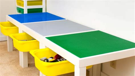 lego table with drawers build your a lego table with storage drawers
