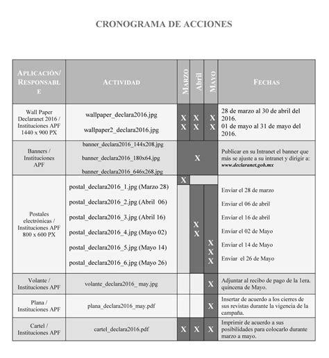 fechas de presentacion de exogena ao 2016 fecha de presentacion anexo patrimonial ao 2016