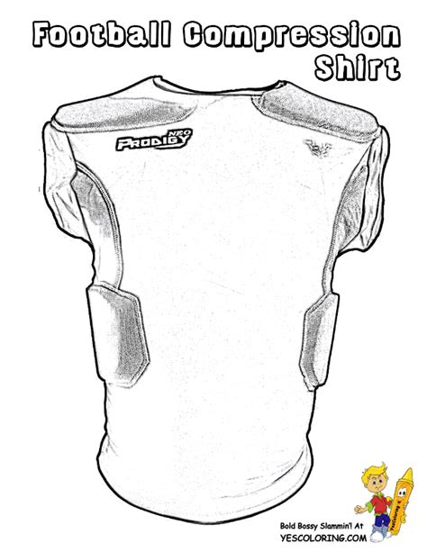 Classic Football Coloring Free Quarterback Kids Cool Shirt Coloring Pages