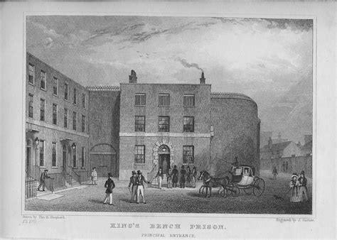 king s bench southwark king s bench prison antique print frontispiece