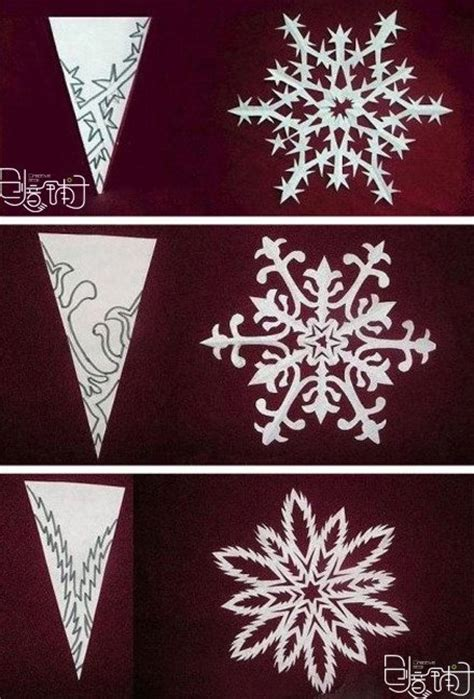 How To Make Awesome Paper Snowflakes - fancy snowflake patterns snow flacks