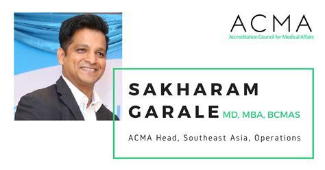 Mba Pharmaceutical Management Usa by Dr Sakharam Garale Joins Acma Leadership Team