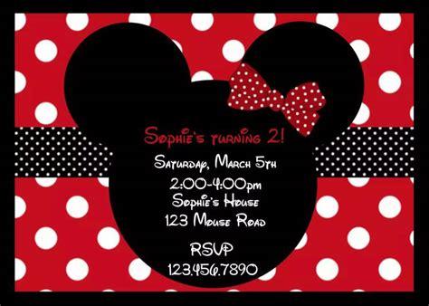 Undangan Ulang Tahun Birthday Invitation Minnie Mouse harga undangan ultah mickey minnie mouse birthday invitation card custom id priceaz