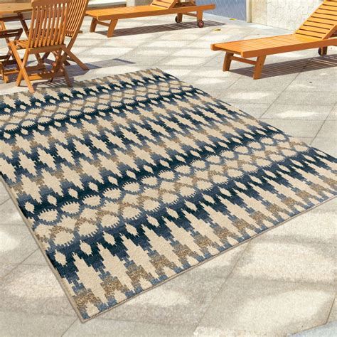 Orian Rugs Indoor Outdoor Southwest Links Ikat Ombre Multi Large Indoor Outdoor Area Rugs