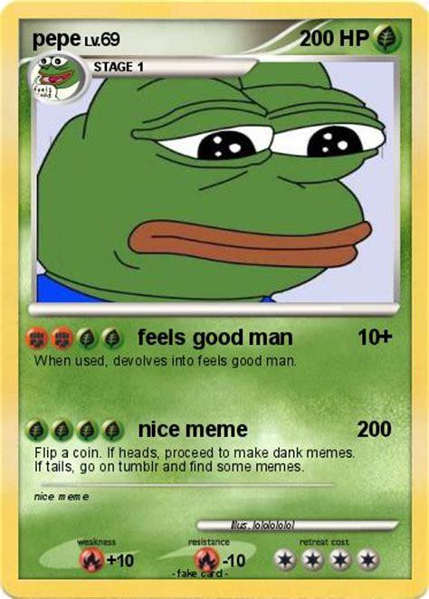Meme Pokemon Cards - pok 233 mon pepe 169 169 feels good man my pokemon card