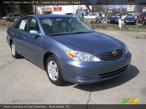 2002 Toyota Camry Le V6 Blue Metallic 2002 Toyota Camry Le V6 Taupe