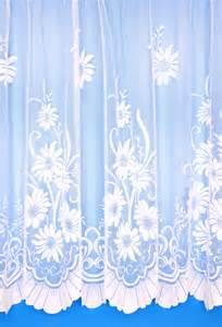 98 Inch Curtains Daisy White Net Curtains Woodyatt Curtains