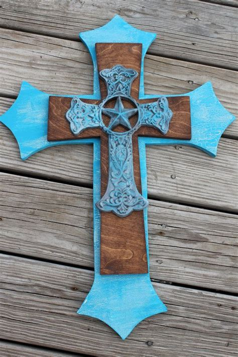 decorative crosses home decor turquoise and red cast iron decorative wall cross western