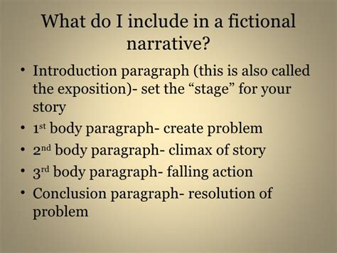 Fictional Narrative Essay Exles by Fictional Narrative