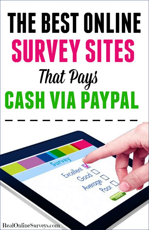 the best online surveys that pays cash via paypal - Survey Companies That Pay Cash