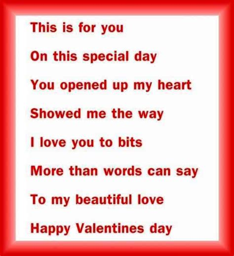 valentines poem valentines day poems for boyfriends weneedfun