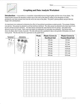 Graphing And Data Analysis Worksheet Answers graphing and data analysis a scientific method activity