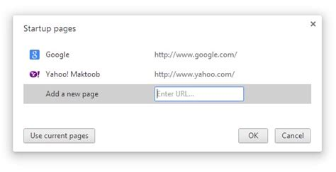 how to set default home page on chrome mozilla