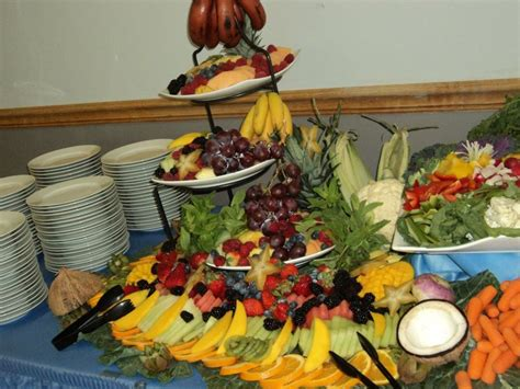 fruit display on appetizer table yelp