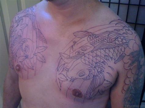 tattoo chest fish 48 magnificent fish tattoos designs on chest