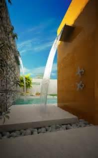 outdoor water shower outdoor shower pools outdoor water features
