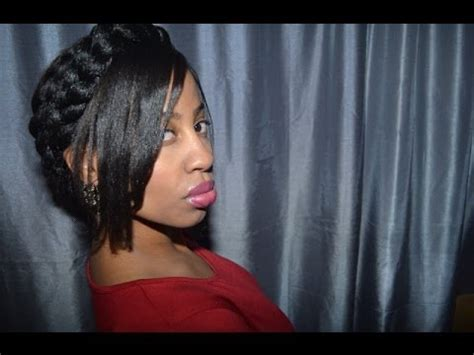 goddess braid with bangs beyonc 233 inspired halo braid with bangs for those with