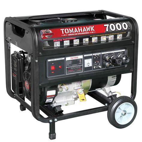 Power Lifier Ea 7000 tomahawk tg7000 5000 watt gas powered recoil start