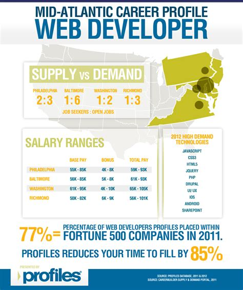 infographic a work for web designers and developers