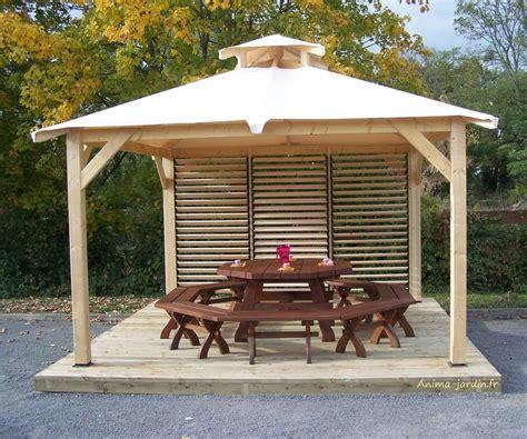 achat tonnelle de jardin tonnelle bois 4 pentes spacio avec ventelles couverture toile achat