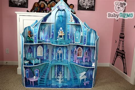frozen play house disney frozen snowflake mansion ice castle doll house
