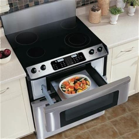 Oven Gas Sharp sharp kb3401ls 30 inch freestanding electric range with microwave drawer manual drawer opening