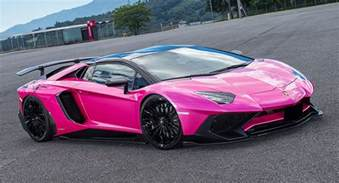 liberty walk lamborghini aventador sv is oh so pink