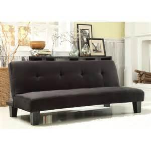 Mini Sofa Beds Homelegance Tufted Mini Sofa Bed Lounger Black Futons At Hayneedle