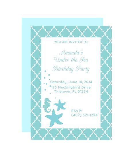 printable under the sea birthday invitations free printable under the sea party invitation from