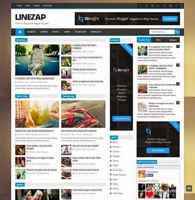 change layout of wordpress blog games blogger template linezap fresh blogger templates