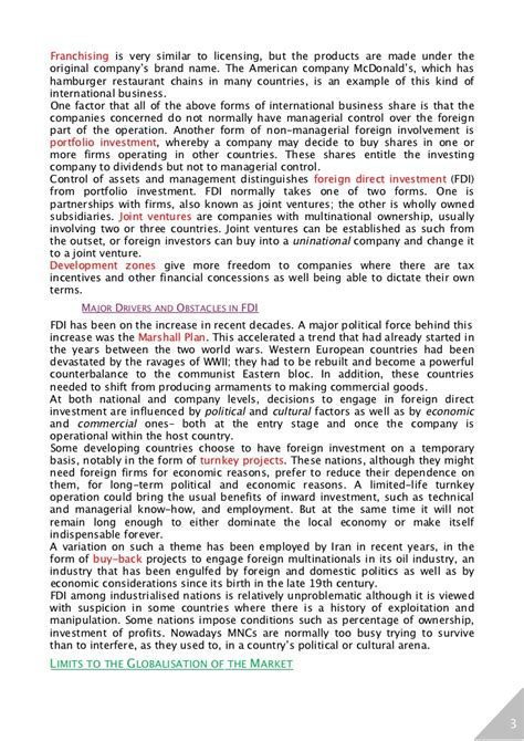 Market Structure Mba Notes by Managing In Global Market Notes Mba Bec Doms On Hr