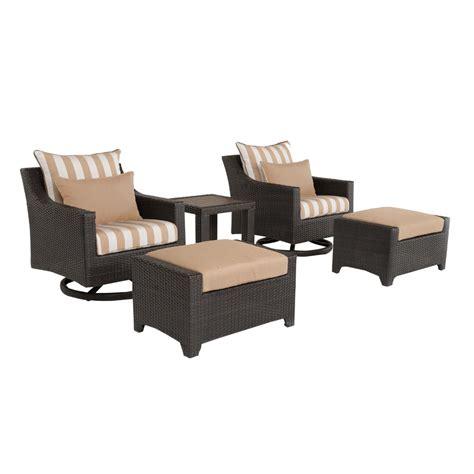 outdoor conversation sets with ottomans safavieh carson grey wash 4 piece outdoor patio