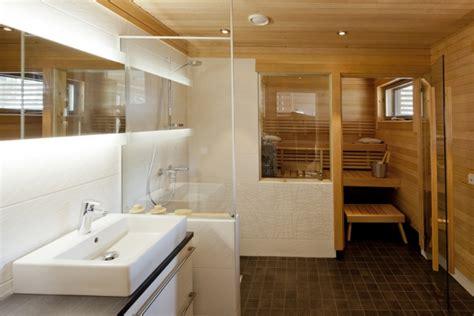 spa themen badezimmer bad mit sauna planen was muss beachten