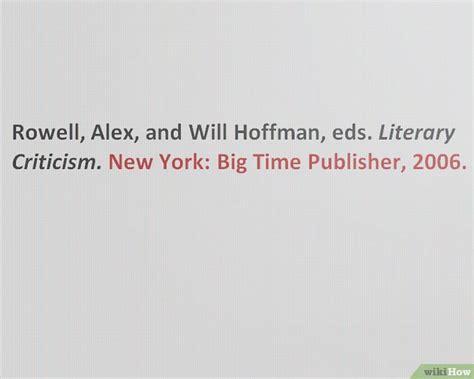 libro literature criticism and style 5 formas de citar un libro de texto en formato mla