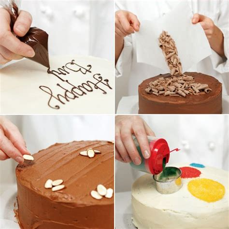 how to decorate a cake at home easy easy cake decorating ideas popsugar food