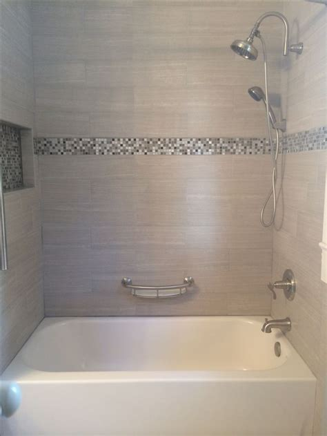 bathtub enclosures ideas tile tub surround gray tile around bathtub grey tile