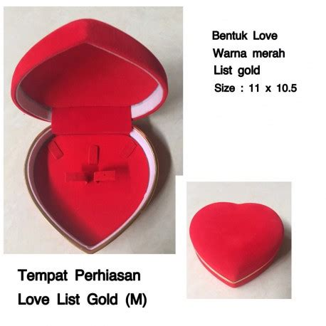 Kotak Cincin Tempat Cincin Perhiasan kotak tempat perhiasan list gold medium display anting kalung cincin gelang grosir display