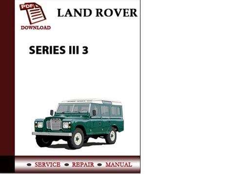 service repair manual free download 1993 land rover defender 110 windshield wipe control land rover series iii 3 workshop service repair manual pdf download pligg