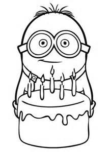 minions la torta disegno da colorare gratis disegni