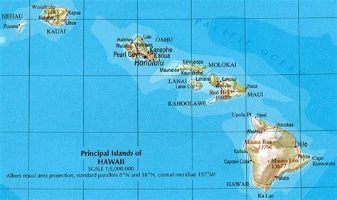 us map hawaii islands hawaii map