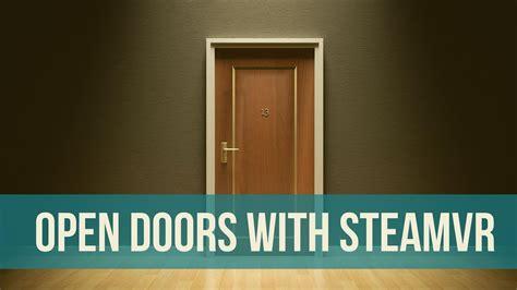 tutorial unity open door unity steamvr how to make a door open turn a knob