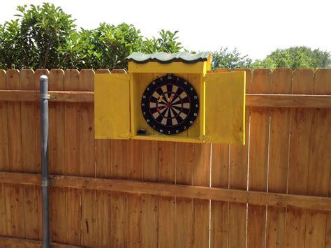 Outdoor Dart Cabinet outdoor dartboard box by bye bye lumberjocks