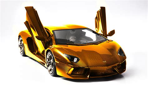lamborghini gold and diamonds german artist creates gold lamborghini aventador lp 700 4