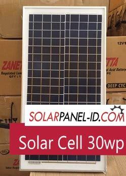 Solar Panel Cell Surya Module Yaki 30wp 30 Wp Mono jual solarcell 30wp distributor panel surya solar panel pju solarpanel id