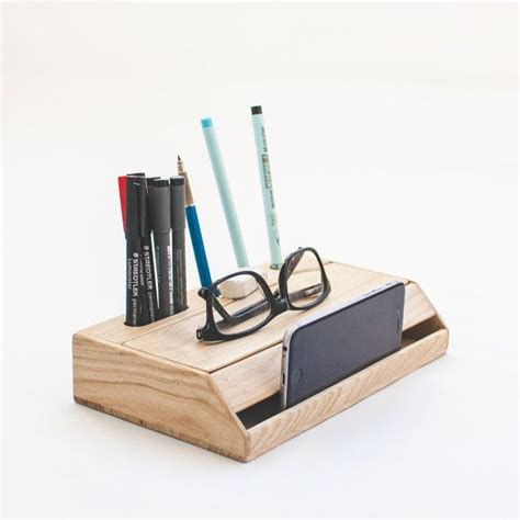Pen Organizer For Desk by Wood Handmade Desk Organizer Office Modern Desk