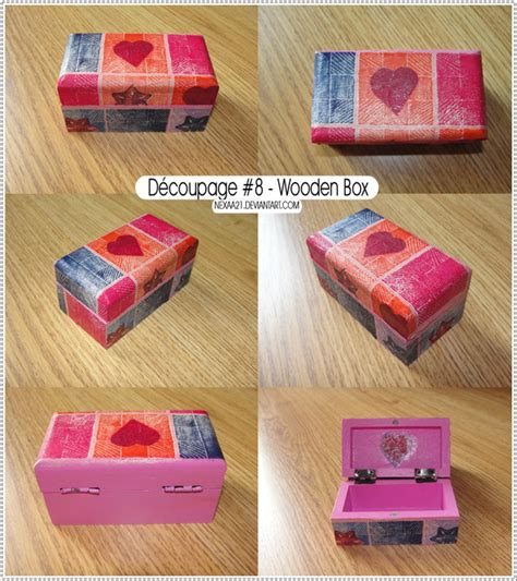 How To Decoupage Wooden Box - decoupage 8 wooden box by nexaa21 on deviantart