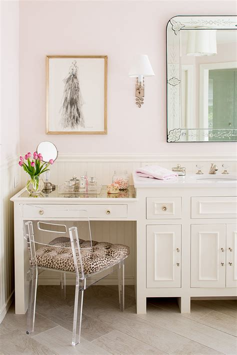 bathroom cabinet with makeup vanity family home with neutral interiors home bunch interior